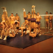 LaSierra High P.E. Program acrobatic demo on The Tonight Show, Circa 1962