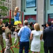 Fox & Friends Co-Host Elisabeth Hasselbeck demos chin up for USMC